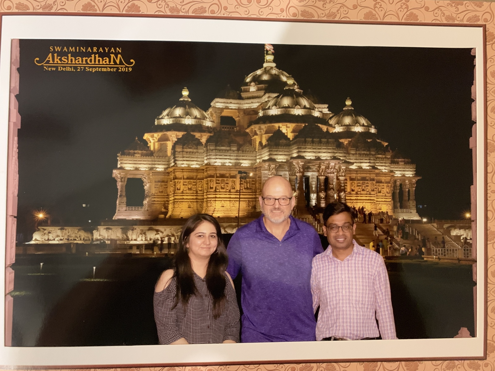 With Malti and Gaurav at Akshardham