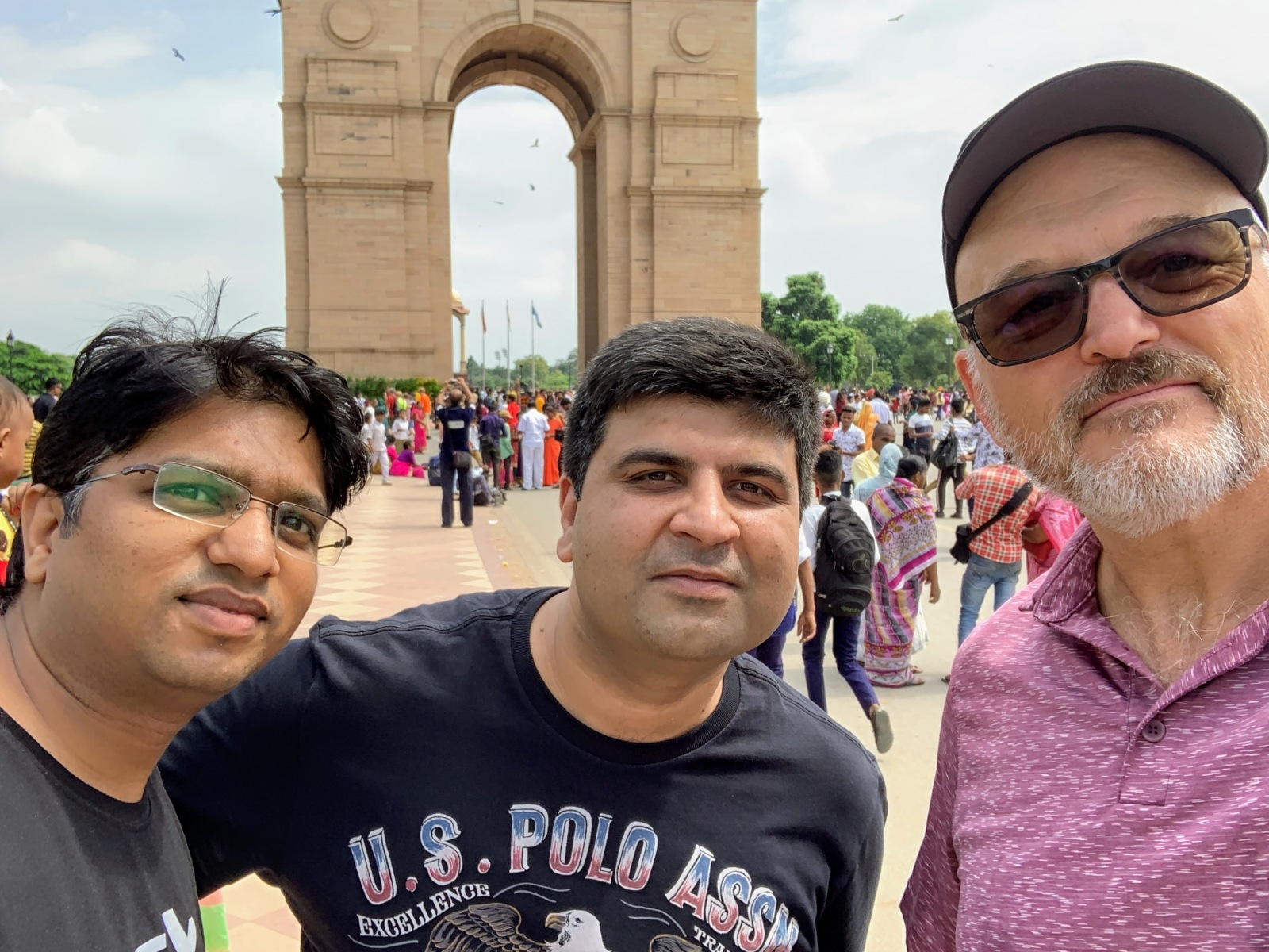 With Atul and Salil at India Gate