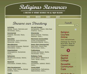 ReligiousResources.org home page
