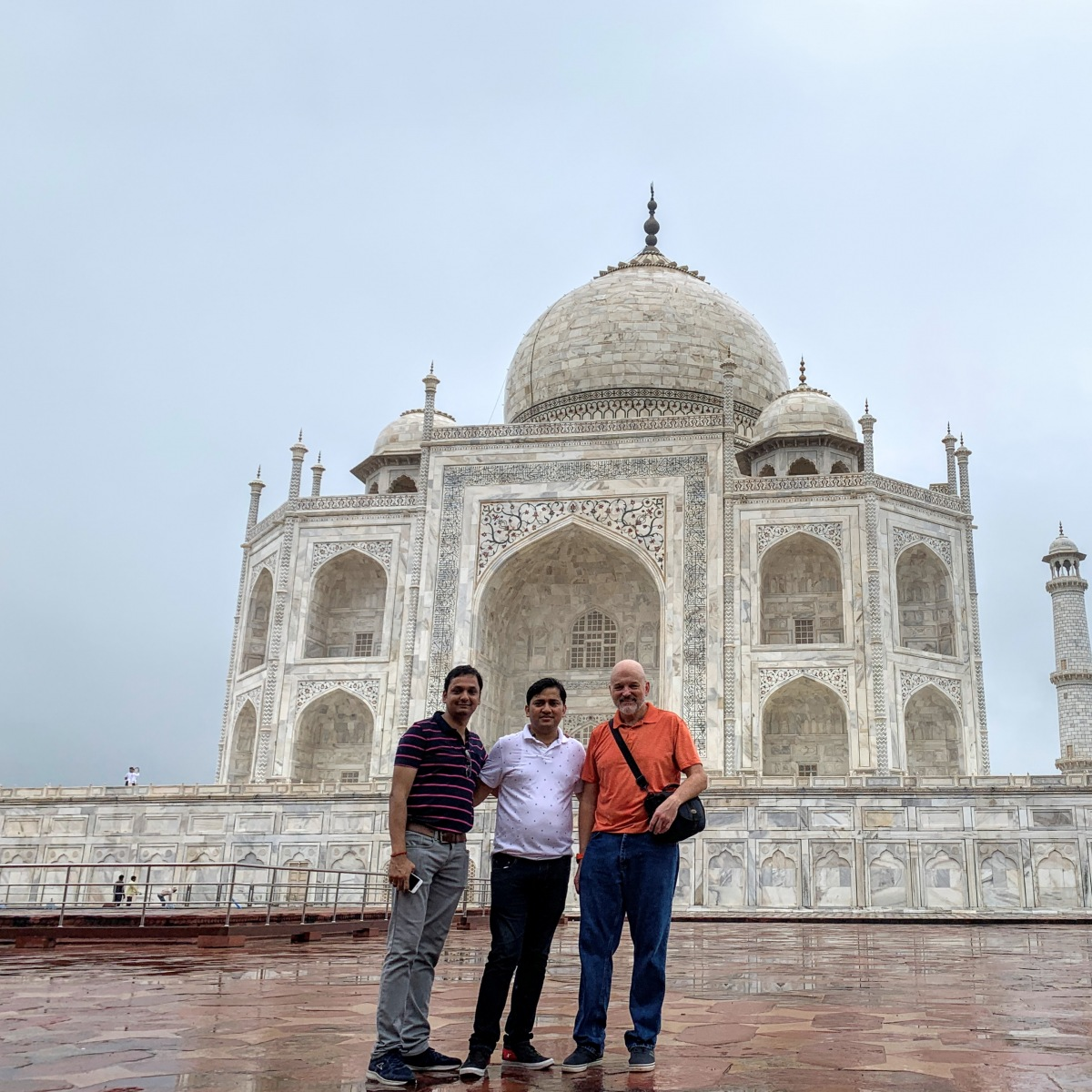 With Raj and Alok at the Taj Mahal