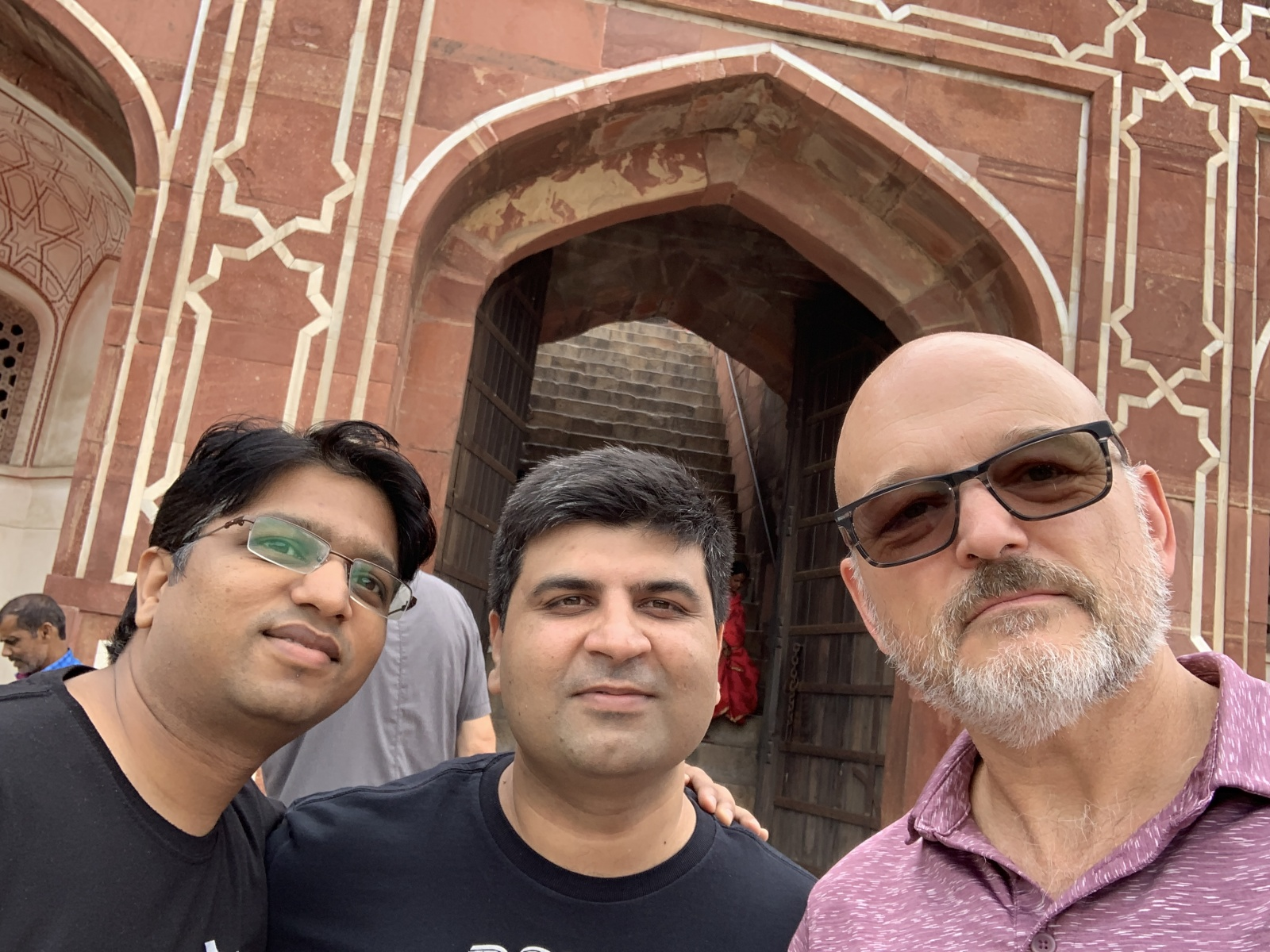 With Atul and Salil at Humayun's tomb
