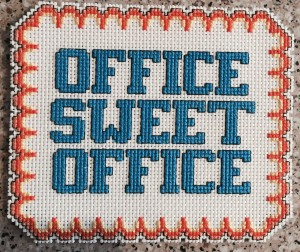 Office Sweet Office cross stitch