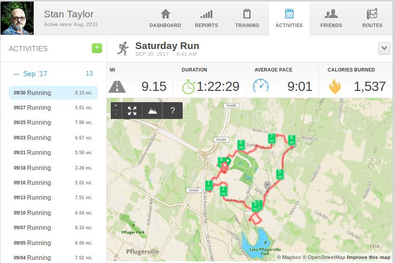 Runkeeper record