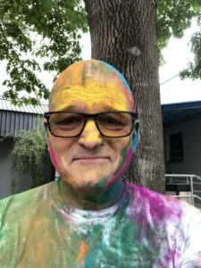 Me at the Holi celebration, March, 2019