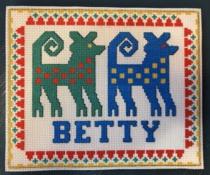 Betty cross-stitch